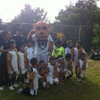 Photo taken at Pumitas C.U., Futbol A.C. by Hugo V. on 9/1/2012