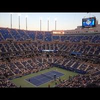 Photo taken at Arthur Ashe Stadium by Jacqueline W. on 8/28/2012