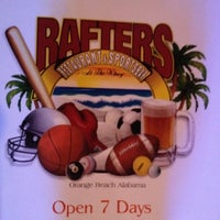 Photo taken at Rafters Restaurant & Sports Bar by Zach D. on 7/1/2012