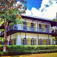 Photo taken at Ernest Hemingway Home & Museum by Damien F. on 4/19/2012