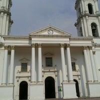 Photo taken at Templo La Capilla el Hospital Tlajomulco by Allan S. on 5/4/2012
