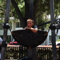 Photo taken at Lake Eola Playground by Matthew D. on 6/16/2012