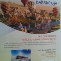 Photo taken at Etstur Side Bda Turizm by KaaN K. on 8/30/2012