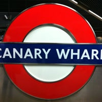 Photo taken at Canary Wharf London Underground Station by Carles M. on 4/12/2012