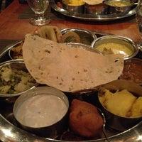 Photo taken at Bhojan Vegetarian Restaurant by Alaina P. on 2/2/2012