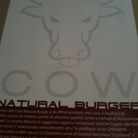 Photo taken at COW Burger Restaurant by Duca Andrea B. on 4/27/2012
