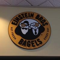 Photo taken at Einstein Bros Bagels by Tonia on 4/1/2012