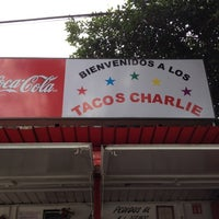 Photo taken at Tacos Charlie by Maria on 8/12/2012