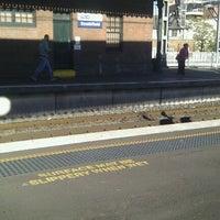 Photo taken at Strathfield Station (Platforms 1 & 2) by Cindy W. on 5/13/2012