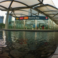 Photo taken at Marina Bay MRT Interchange (NS27/CE2) by Illhump A. on 6/1/2012