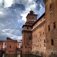 Photo taken at Castello Estense by Angela on 9/2/2012