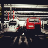 Photo taken at München Hauptbahnhof by Dominik L. on 5/5/2012