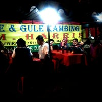 Photo taken at Sate & Gule Kambing H.M. Harris by Andrie E. on 2/11/2012