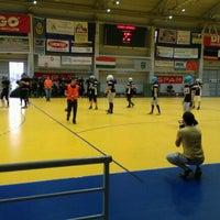 Photo taken at OBO Aréna - Dabasi Sportcsarnok by dori b. on 3/24/2012