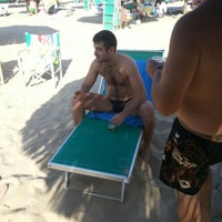 Photo taken at Nettuno Beach Club by Paolo N. on 8/11/2012