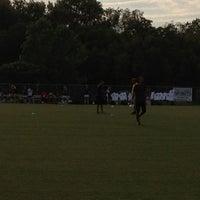 Photo taken at Smyrna High Soccer Field by Bryan H. on 8/21/2012