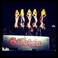 Photo taken at Silkies Saloon by Lisa R. on 9/12/2012