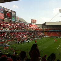 Photo taken at Estadio Nemesio Diez by Roberto E. on 8/5/2012