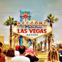 Photo taken at Welcome To Fabulous Las Vegas Sign by Lindsey M. on 7/20/2012
