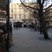 Photo taken at Place Jean Jaurès by naguib t. on 3/23/2012