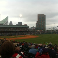 Photo taken at Louisville Slugger Field by Joel F. on 4/21/2012