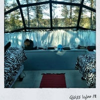 Photo taken at Glass Igloo cabin 18 by Wendy Y. on 4/3/2012