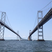 Photo taken at Chesapeake Bay Bridge by Stephanie M. on 5/26/2012