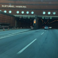 Photo taken at Elbtunnel by Brian P. on 8/11/2012