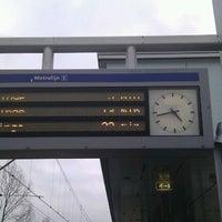 Photo taken at Metrostation Meijersplein by JPVDW on 2/24/2012