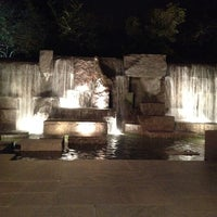Photo taken at Franklin Delano Roosevelt Memorial by Tanya R. on 3/4/2012