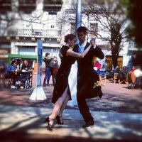 Photo taken at Plaza Dorrego by Nicolas C. on 8/31/2012