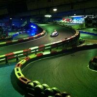 Photo taken at Indoor Karting Barcelona by Victoria V. on 3/4/2012