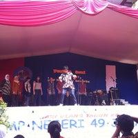 Photo taken at SMP Negeri 49 Jakarta by Adhisty K. on 2/18/2012