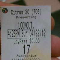Photo taken at Regal Cinemas Citrus Park 20 by Joe M. on 4/22/2012