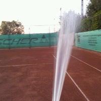 Photo taken at Röpte teniszpálya/lelátó :o) by Anikó Z. on 8/13/2012