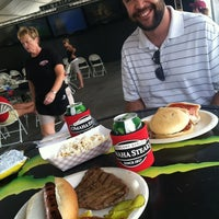 Photo taken at The Tailgate sponsored by Omaha Steaks by Michelle L. on 6/24/2012