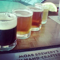 Photo taken at Moab Brewery by Malia Y. on 6/18/2012