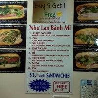 Photo taken at Nhu Lan Sandwich by Julie J. on 5/13/2012