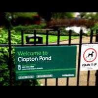 Photo taken at Clapton Pond by tikichris on 5/6/2012