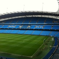 Photo taken at Etihad Stadium by Geert K. on 2/24/2012
