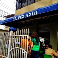 Photo taken at El Pez Azul Express by Guillermo H. on 9/7/2012