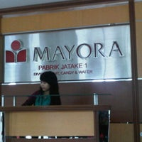 Photo taken at PT. Mayora Indah - Jatake 1 by Dinar Yoggy P. on 6/11/2012