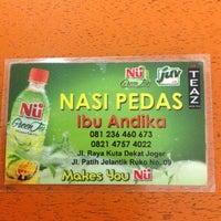 Photo taken at Nasi Pedas Ibu Andika by Rika D. on 8/26/2012