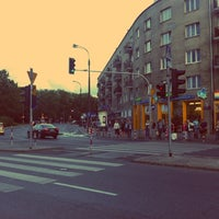 Photo taken at Plac Wilsona by Lukasz B. on 8/8/2012