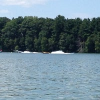 Photo taken at Lake Menomin by Nick K. on 7/28/2012