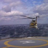Photo taken at Ras Shukair - Petrolum Air Services Camp by Hazem A. on 8/3/2012