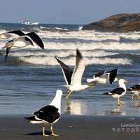Photo taken at Praia do Sonho by Fotógrafa C. on 8/24/2012