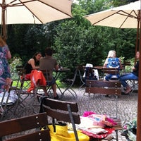 "Photo taken at Café Restaurant ""Wintergarten"" by Basak E. on 7/6/2012"