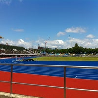 Photo taken at Sendai City Athletic Stadium by Andy N. on 6/11/2012