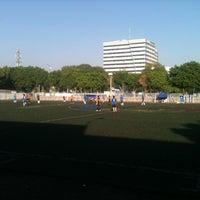 Photo taken at Cancha de Futbol de la Delegación Benito Juarez by Mau A. on 5/20/2012
